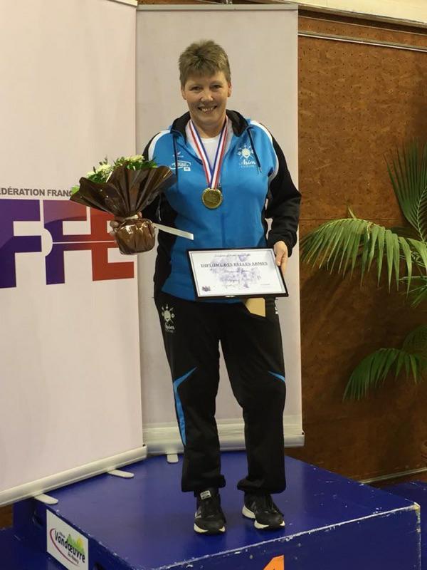 Frederique Froehly 1ère aux championnats de France d'escrime