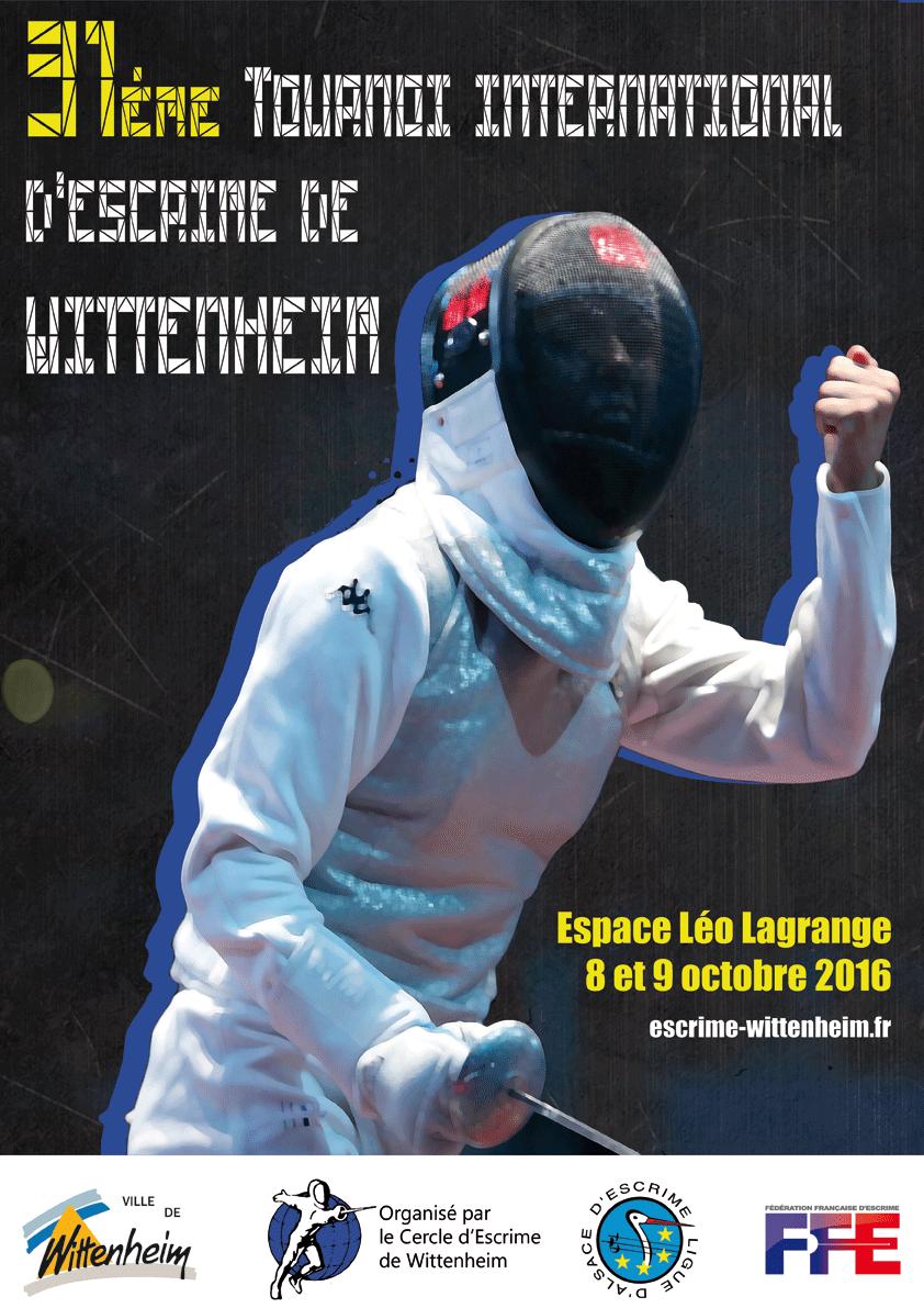 Affiche du 31ème tournoi international d'escrime de Wittenheim