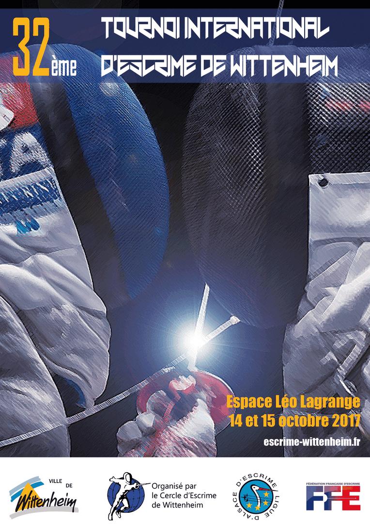 Affiche tournoi 2017 - Escrime Wittenheim