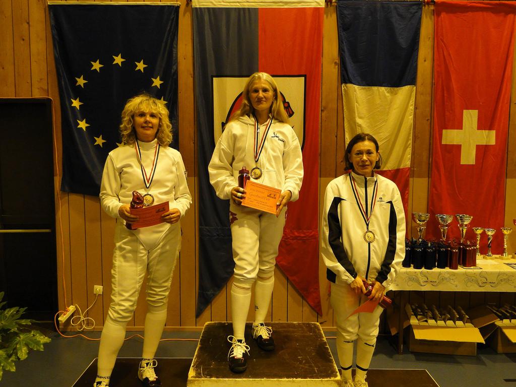 Chantal Rubino - 2ème au tournoi d'escrime de Guebwiller