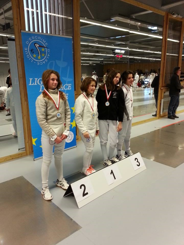 Podium Championnat d'Alsace
