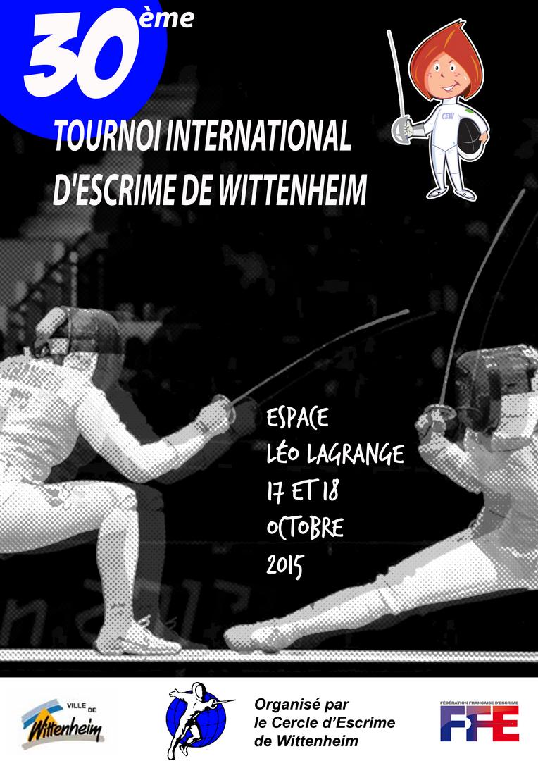 Affiche du 30ème tournoi d'escrime de Wittenheim