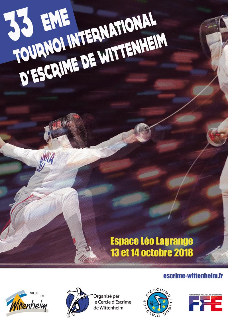 Affiche 33ème tournoi Escrime Wittenheim