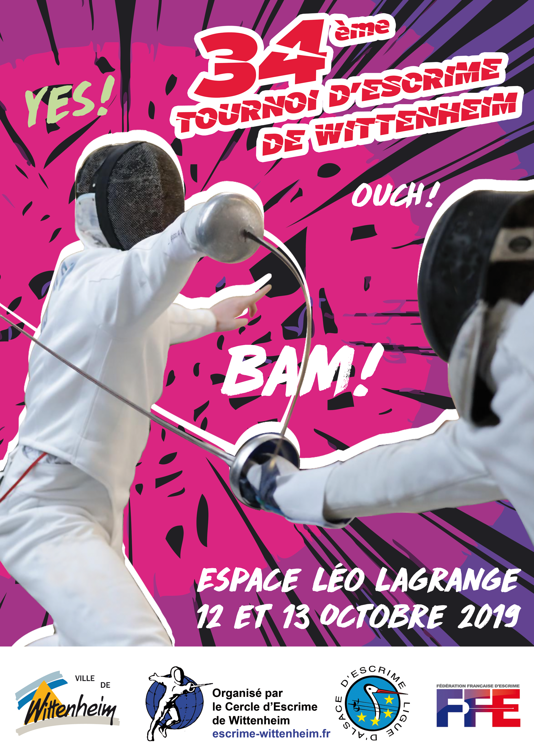 Affiche 34e tournoi international d'escrime de Wittenheim