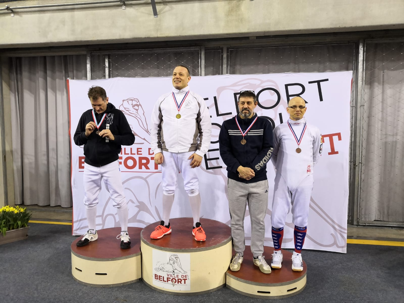 Podium Tournoi du Lion Belfort le 07-03-2020